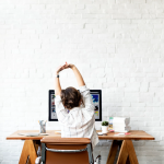 Office worker sitting at desk