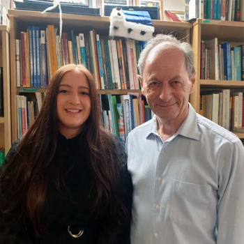 Simone Sherriff pictured with with Sir Michael Marmot.