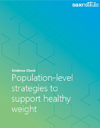 Evidence Check cover for population level strategies to support healthy weight