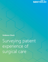 Evidence Check cover for patient experience of surgical care