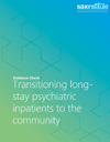 Cover page of the Transitioning long-stay psychiatric inpatients to the community Evidence Check Report.