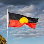 aboriginal flag flying above community centre