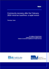 Community recovery after the February 2009 Victorian bushfires