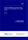 Strategies for changing health behaviour at the population level