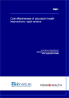 Cost effectiveness of population health interventions