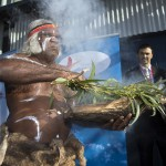 Uncle Max Eulo performing a smoking ceremony