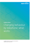 Changing behaviour by telephone - what works