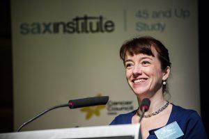 Study Director Professor Emily Banks addresses the meeting
