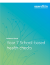 Evidence Check cover: Year 7 school-based health checks