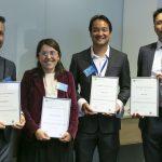 NSW Biostatistics Training Program 2018 graduates (L to R): Nick Roberts, Wedyan Meshreky, Angus Liu, Alvin Lee