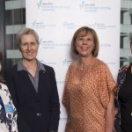 NHMRC CEO Prof Anne Kelso with SaxRAA18 winners A/Prof Anne Abbott, A/Prof Lisa Wood, and Prof Kate Curtis