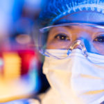 Female scientists working on virus vaccines